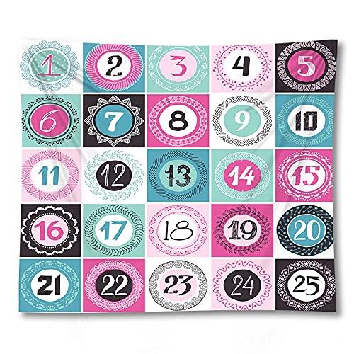 PPOU Caja de Regalo cosmética decoración Hippie patrón de Dibujos Animados Estera de Yoga casa Colgante de Pared Manta de Tela Tapiz de Tela de Fondo A11 73x95cm