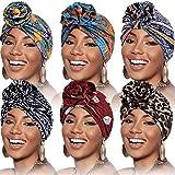 Best Turbans - SATINIOR 6 Pieces Women Turban Flower African Pattern Review