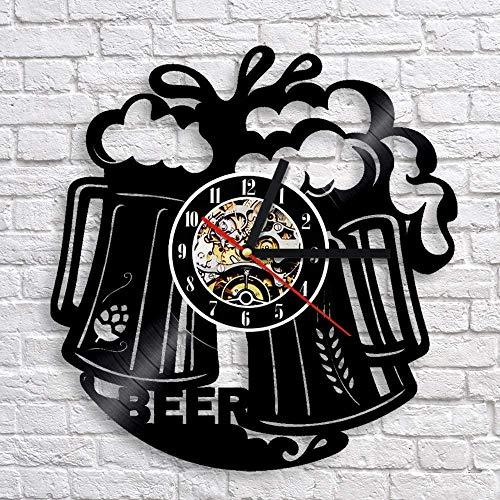 Reloj de Pared de alegría de Vino Tinto, Reloj de Bar Club de diseño Moderno, Reloj de Pared de Vinilo clásico Creativo, Mecanismo de Cuarzo, Artista, decoración del hogar