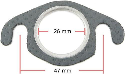 Joint d'échappement pour collecteur d'échappement 26 mm (distance entre les boulons de 48 mm) pour moteur 50 cc 2 temps