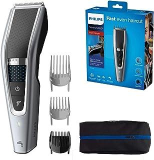 PHILIPS HC5630/13, Series 5000 Washable Hair Clipper, Grey/Black