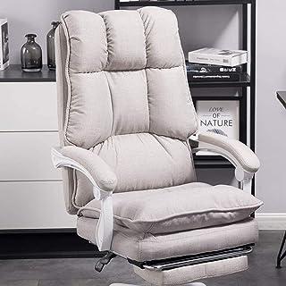 Chaise depatron de chaise dejeu MHIBAX, chaise de bureau inclinable, chaise pivotante, siège de pause déjeuner confor...