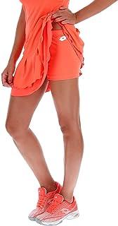 Lotto Teams TH PL - Pantalón Corto de Ballet para Mujer, Color Naranja, Blanco, Talla M