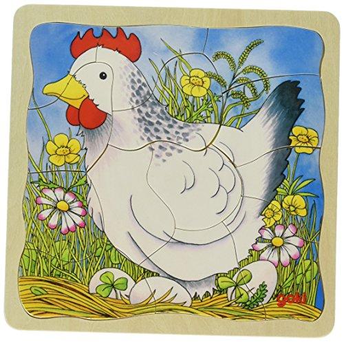 Goki 57521 - laagse puzzel - het kip