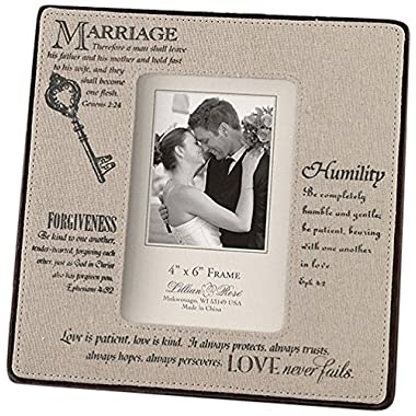 Lillian Rose Traditional Marriage Picture Frame 4x6