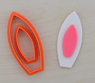 2 pcs. Bunny Ears Fondant Cutter Set (0.8 x 2 inches)