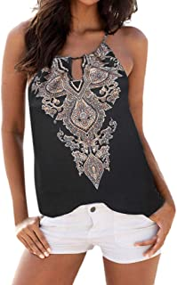 〓Londony〓 Women Summer Bohemian Style Fashion Beach Vest Top Sleeveless Blouse Casual Tank Loose Tops T-Shirt