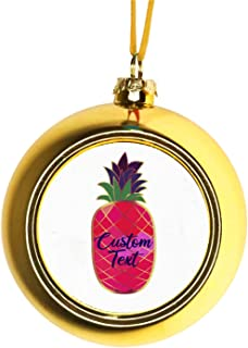 Rosie Parker Inc. Custom Name Ornament - Custom Xmas Ornaments Christmas Ornaments Personalized Christmas Ornaments with Initials Gift Gold Ball Ornaments