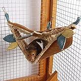 <span class='highlight'><span class='highlight'>Hearthrousy</span></span> Pet Hammock Hamster - Warm Hammock Cotton Swing Hanging Bed Nest Sleeping Bag Small Pet Cage - For Hamster Golden Hamster innate