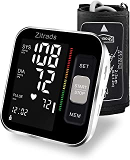 Blood Pressure Monitor Upper Arm Large Display with Backlight, Digital BP Monitor for Home Use with Cuff 22-40cm, Automatic and Accurate, Double User with 2x120 Groups Memory