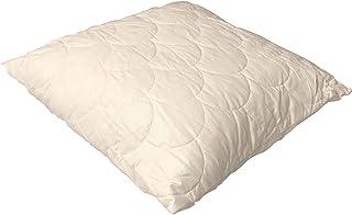 Espritzen - Oreiller Tencel Coton Bioflor matellasé - Taille : 65x65 cm - Blanc