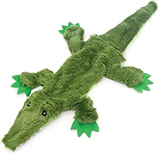 2-in-1 Fun Skin Stuffless Dog Squeaky Toy by Best Pet Supplies - Alligator, Small