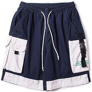 Shorts Summer Men's Shorts Tooling Shorts Loose Comfort Shorts Boys Shorts Sports Shorts Outdoor Shorts (Color : Blue, Size : XXL)