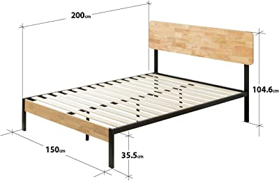 Zinus Cama de plataforma sin cabecero Suzanne de 35,6 cm ...