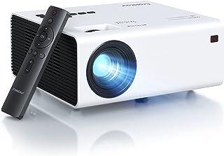 Proyector 4K, Full HD Nativo de 1080P, Mini proyector Portátil para Películas al aire Libre y Cine en Casa, Duración de Lámpara LED de 60000 horas, Compatible con Fire Stick TV Box Chromecast PS4 HDMI AV USB