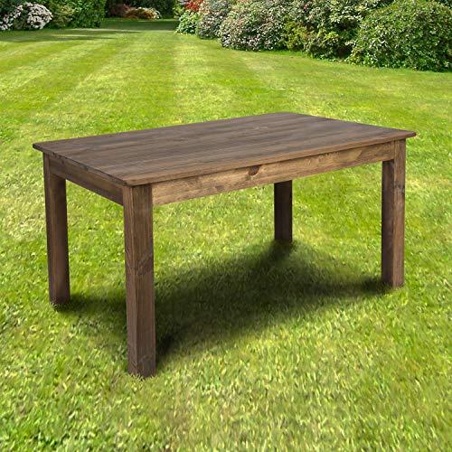 Flash Furniture Rectangular Antique Rustic Solid Pine Farm Dining Table