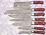 Custom Made Damascus Steel Kitchen Chef Knife Set 7 PCs...