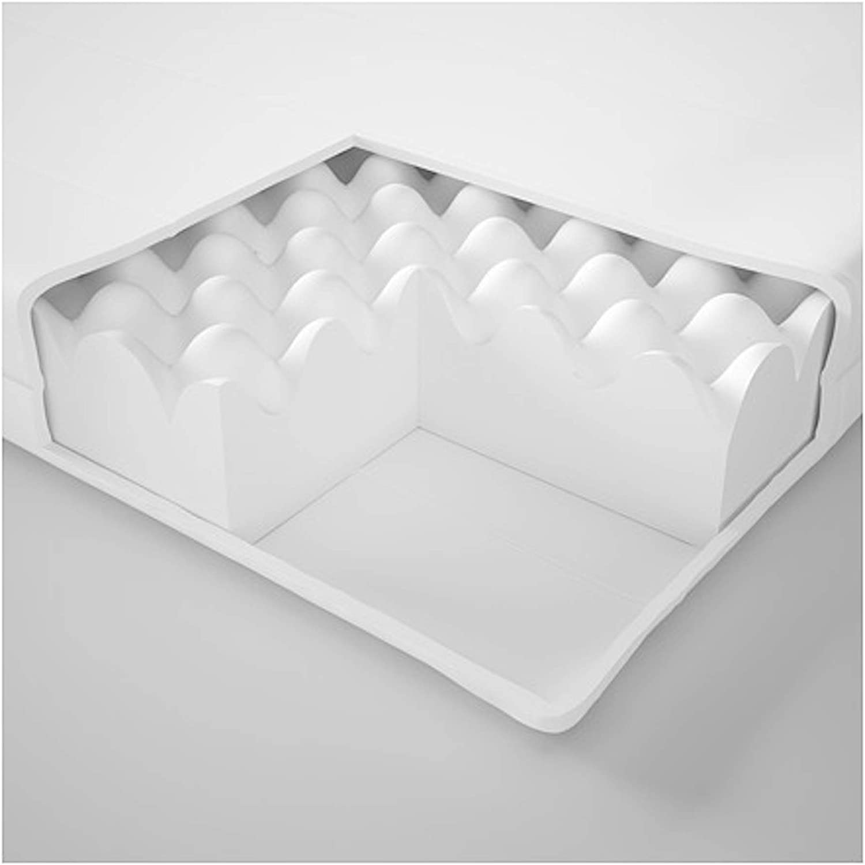IKEA Malfors - Colchón de espuma (160 x 200 cm), color blanco ...