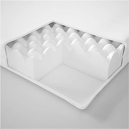 IKEA Malfors - Colchón de espuma (90 x 200 cm), color blanco ...