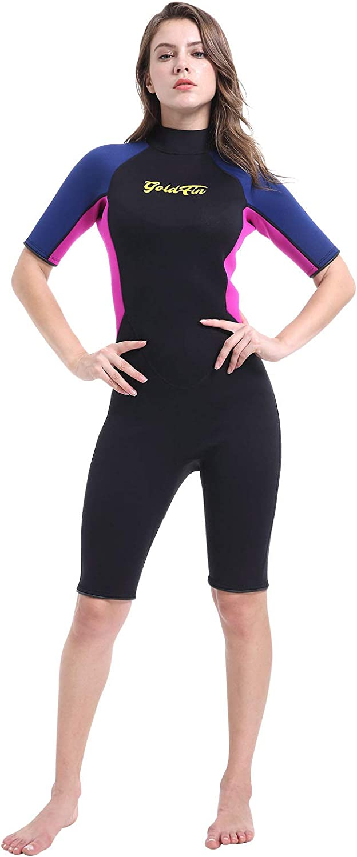 GoldFin Shorty Wetsuit Women Men Kids 3mm shopping Neoprene Div Swimsuit New color