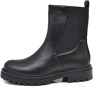 IF Fashion Stivali Stivaletti Anfibi Scarpe da Donna Platform Elastico 85181