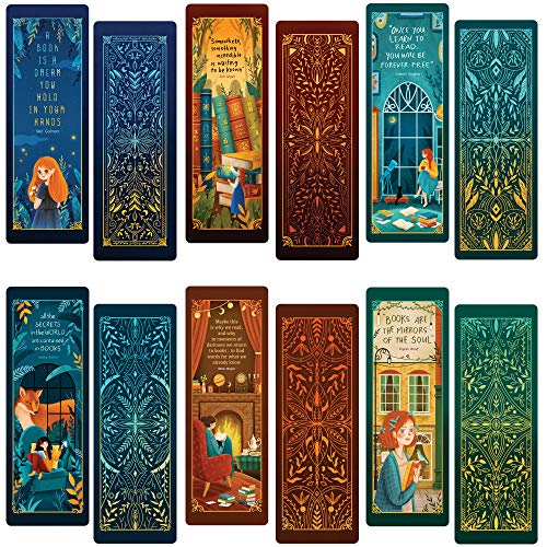 Livin Harmony || Inspiring Illustrated Bookmarks || Great Book Markers for Book Lovers, Girls, Kids, Teens, Women, and Everyone! (12 or 60) || Made in The USA
