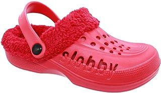 buyAzzo Zuecos cálidos de Slobby para mujer, zapatos de estar por casa, de jardín, con forro, forro interior extraíble, ta...