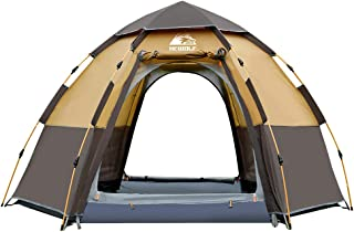 Hewolf Waterproof Instant Camping Tent - 2-3 Person Easy Quick Setup Dome Family Tents for Camping,Double Layer Flysheet C...