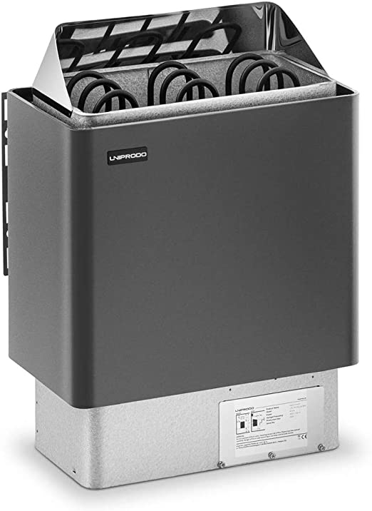 Uniprodo Horno De Sauna Estufa El/éctrica UNI/_SAUNA/_G8.0KW Manejo sencillo, Para tama/ño de sauna: 8-12 m/³, 8 kW, De 30 a 110 /°C