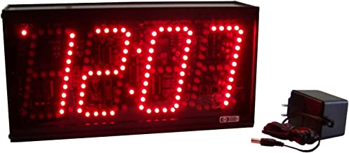 CC44SE Stand Alone Clock with 4-Inch High Digits - *VERY BRIGHT*
