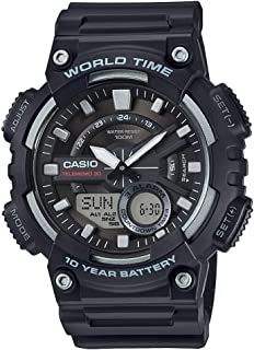 Casio Youth-Combination Analog-Digital Black Dial Men's Watch - AEQ-110W-1AVDF (AD207)