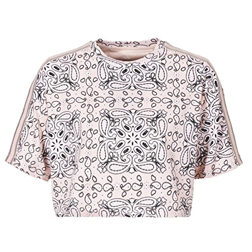 Converse Womens Cropped Tee Miley Cyrus Rose T-Shirts S