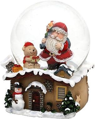 Dekohelden24 Boule à neige avec Père Noël - Dimensions (L x l x H) : 7 x 7 x 9 cm - Boule Ø 6,5 cm.