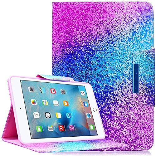 Funda iPad Mini 1 / Mini 2 / Mini 3 / Mini 4 [Pluma Libre del Tacto], Billionn Ultra Delgada Protective Cover Stand Función para Apple iPad Mini 1 / Mini 2 / Mini 3 / Mini 4 (Arco Iris Arena)