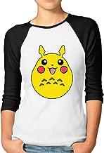 AOLM Women's Geek Cartoon Character Mixed Raglan T-shirts