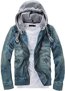 NEARTIME Mens Denim Jacket, 2018 Fashion Men's Autumn/Winter Slim Long Sleeve Detachable Hoodie Coat Blouse
