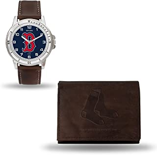 Rico Industries MLB Men's Watch and Wallet Set (Brown)