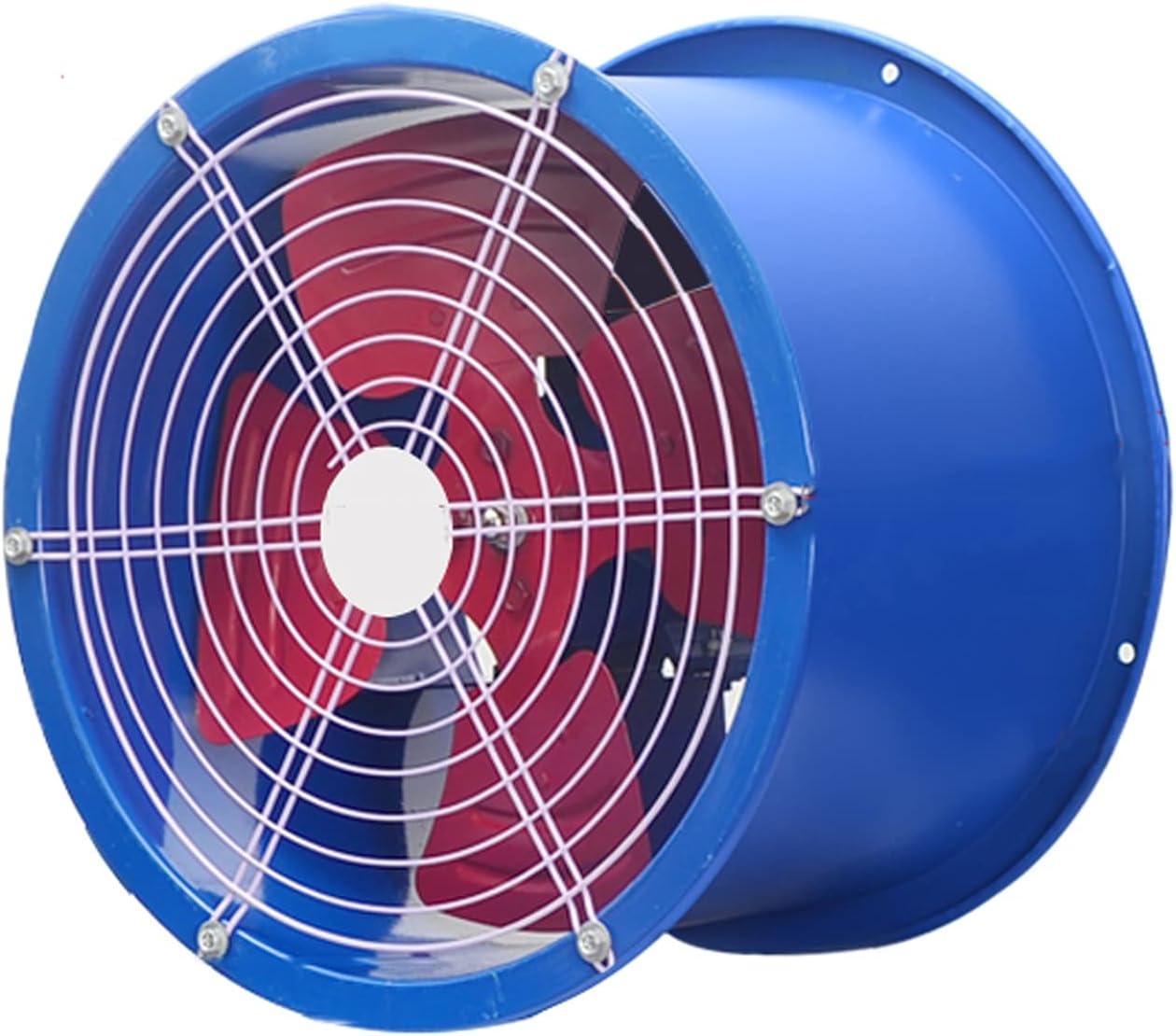 Ventilador extractor Ventilador axial con soporte de motor Granja de alta potencia, ventilador de escape, ventilador de escape de conducto, potente, ventilador de ventilación industrial, azul Ventilad