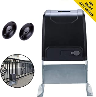 G.T.Master Sliding Automatic Gate Opener Kit - Driveway Security Door Operator Hardware Kit with Two Remotes Control and Infrared Photocell Sensor for Sliding Gates up to 2200lb and 40ft Long (GT2200)