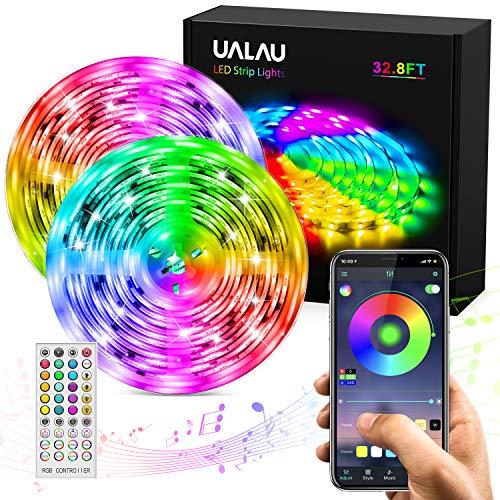 UALAU Tiras LED 10M, APP y de Control Remoto Luces LED, LED Tira Luz Sincronización de Música con 300 LEDs RGB 5050 SMD para Decoración Interior