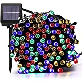 Solar String Lights, 72FT 200 LED 8 Mode Solar Christmas Lights Waterproof Starry Fairy Light for Indoor/Outdoor Commercial Decor Ambiance Garden Backyard Wedding Holiday Party(Multi-Color)