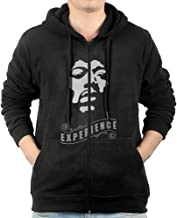 Men's The Jimi Hendrix Experience-Hey Joe Stencil Zip Hoodie Sweatshirt With Kangaroo Pocket