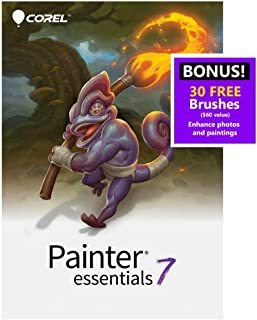 Corel | Painter Essentials 7 | Digital Art Suite | Amazon Exclusive includes 30 FREE Brushes valued at $60 [Mac Download]