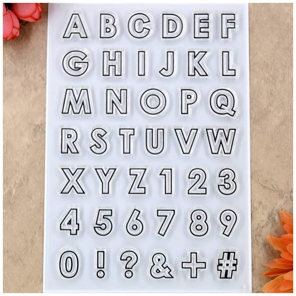 Kwan Crafts English Alphabet Number Clear Stamps for Card Making Decoration and DIY Scrapbooking