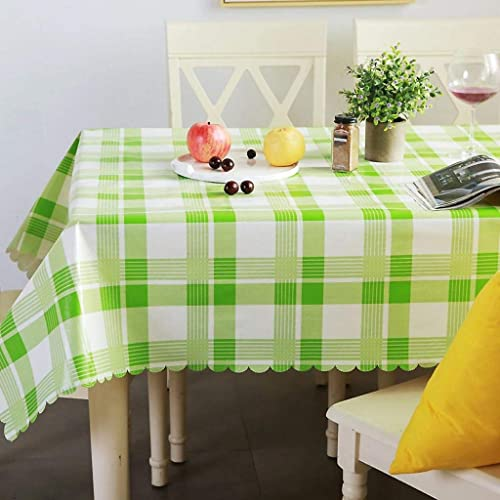 WENYAO Tablecloth Home Waterproof Anti-Oil Anti-Oil Anti-Oil Anti-scalding Plastic Rectangular Round tabcloth Fabric Restaurant Tea tabcloth  gran descuento