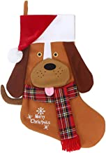 wlflash Christmas Stockings 18 INCH Pet Dog Plush Decorations for Family Celebrate Seasonal Decor Tree Ornament Party Deco...