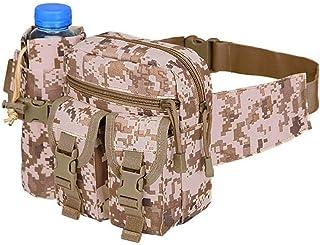 Camouflage Hip Belt Bag Waist Bag with Water Bottle Pocket Holder for Outdoor Sport Hunting