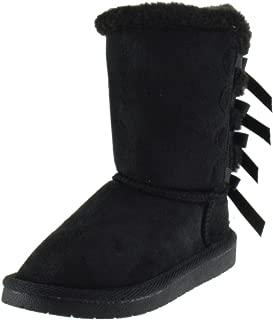 Forever Link Ann 34K Little Girls Shearling Bowtie Fur Boots