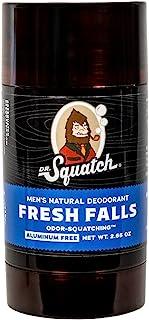دکتر اسکواچ دئودورانت طبیعی برای مردان - بوی اسکواچینگ دئودورانت مردانه بدون آلومینیوم - Fresh Falls 2.65 اونس (1 بسته)