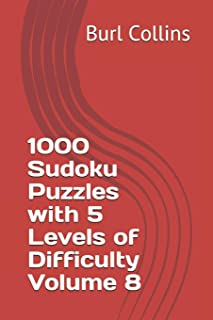 1000 Sudoku Puzzles with 5 Levels of Difficulty Volume 8